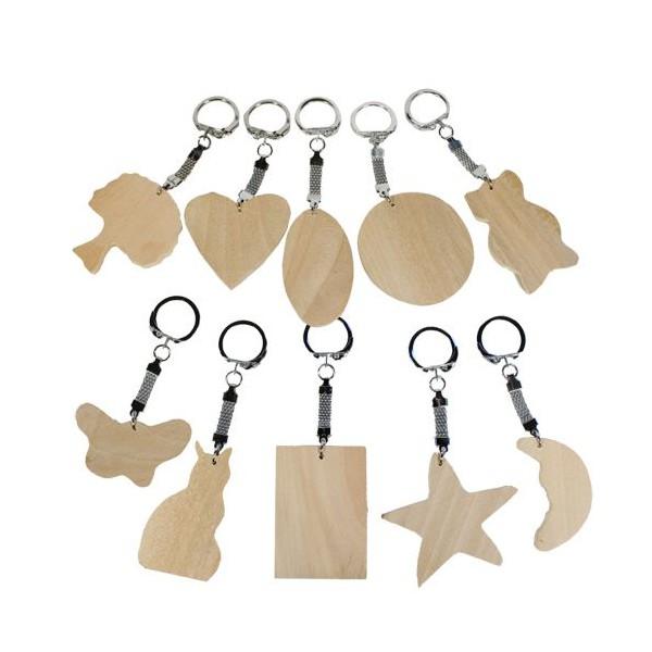 Porte cl en bois peindre l 39 habis for Porte cles en bois