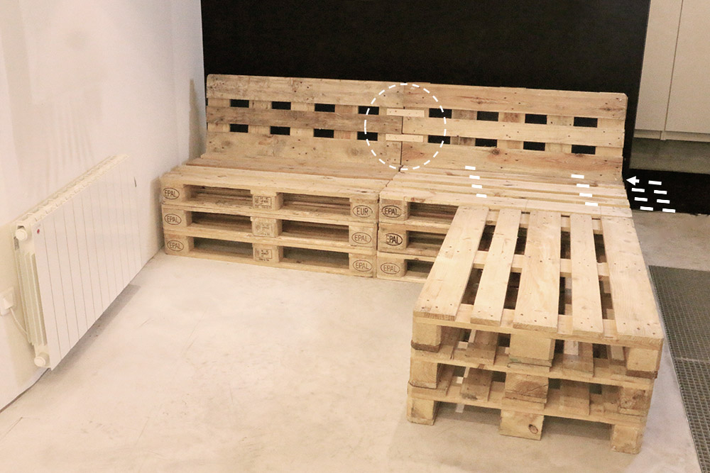 faire un canap en palette l 39 habis. Black Bedroom Furniture Sets. Home Design Ideas