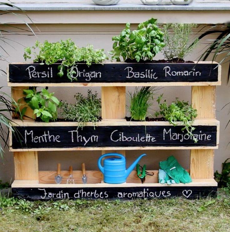 Deco palette jardin l 39 habis - Palette deco jardin ...