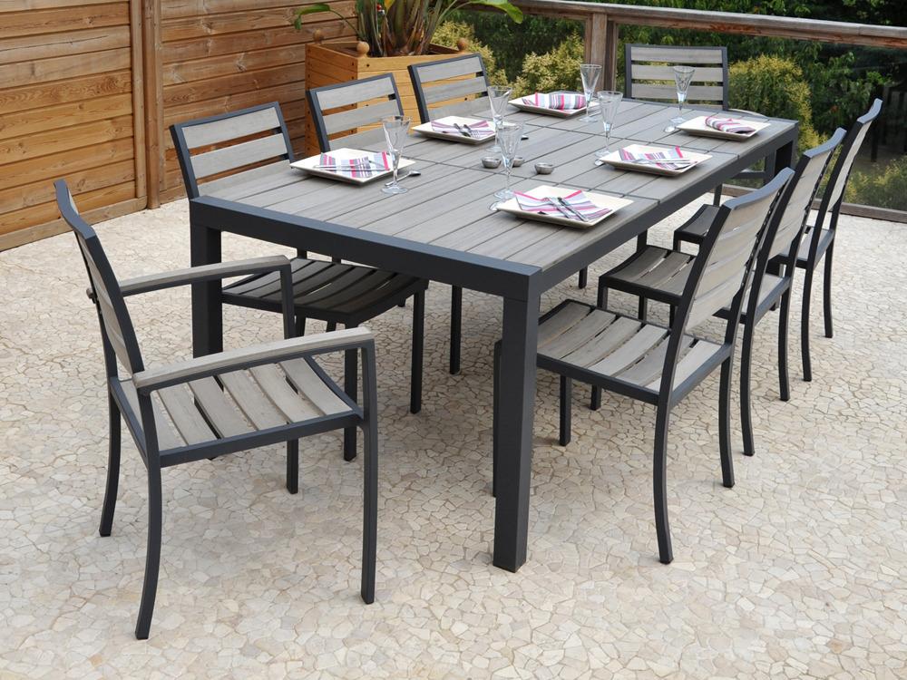 Chaise table de jardin l 39 habis for Table chaise bois jardin