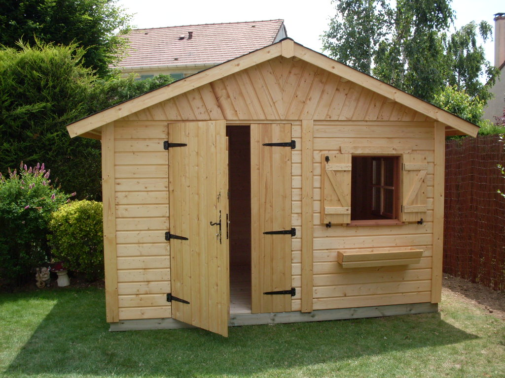 Cabane de jardin bois l 39 habis - Abri de jardin tole ...