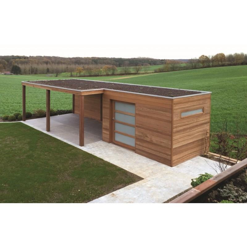 Abri de jardin avec auvent l 39 habis - Gouttiere pour abri de jardin ...