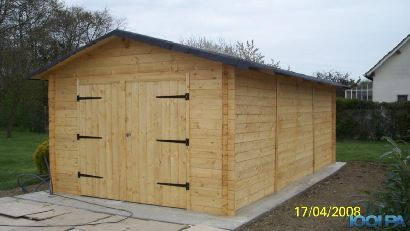Abri de jardin 15m2 pas cher l 39 habis - Construire un garage en bois pas cher ...