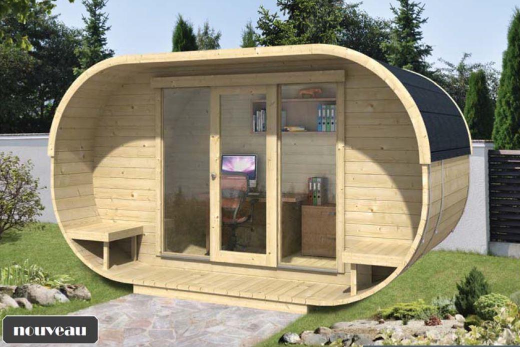 chalet bois 12m2 l 39 habis. Black Bedroom Furniture Sets. Home Design Ideas
