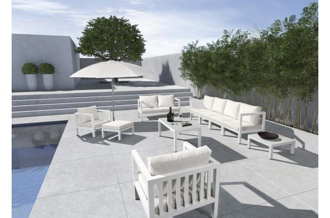 Salon de jardin metal blanc - l\'Habis