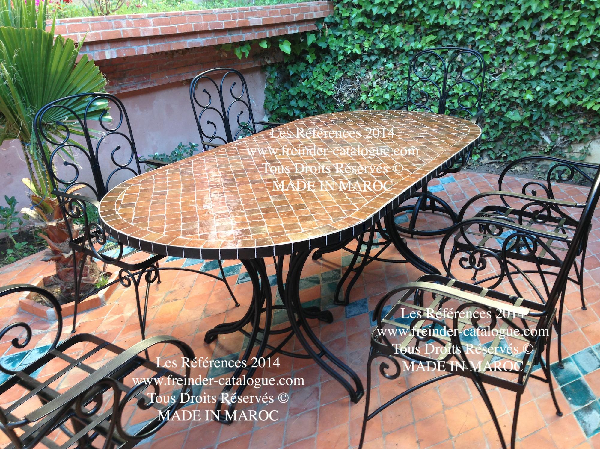 Table jardin en fer forgé - l\'Habis