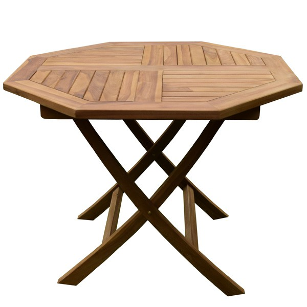 Table jardin octogonale l 39 habis - Table de jardin octogonale ...
