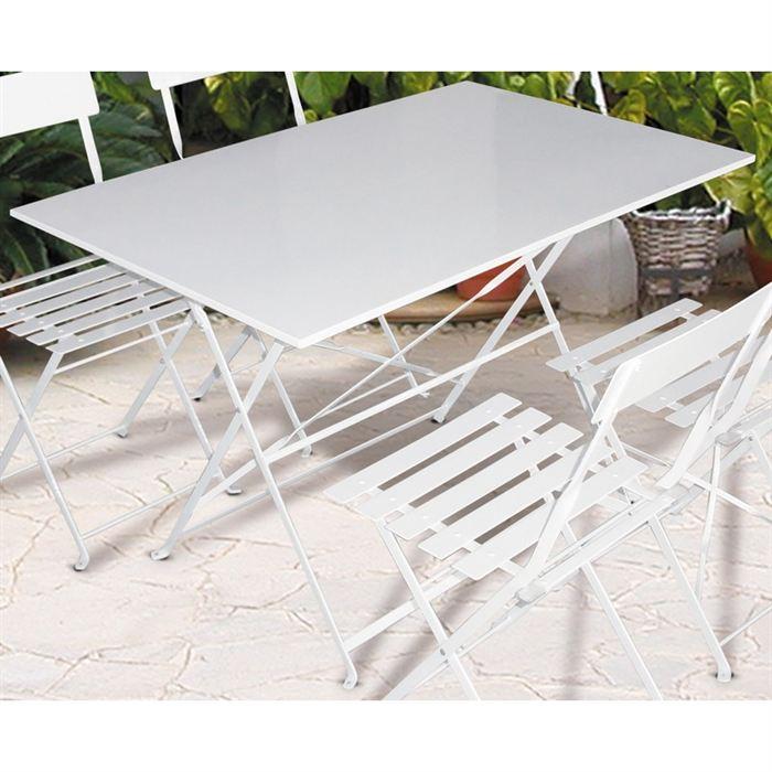 Table jardin metal pliante - l\'Habis
