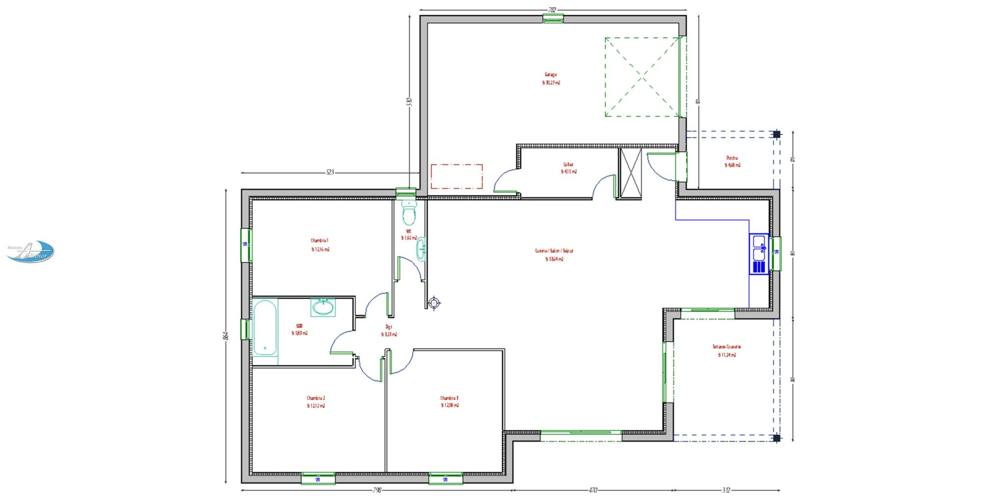 Plan maison 2d l 39 habis for Plan en 2d