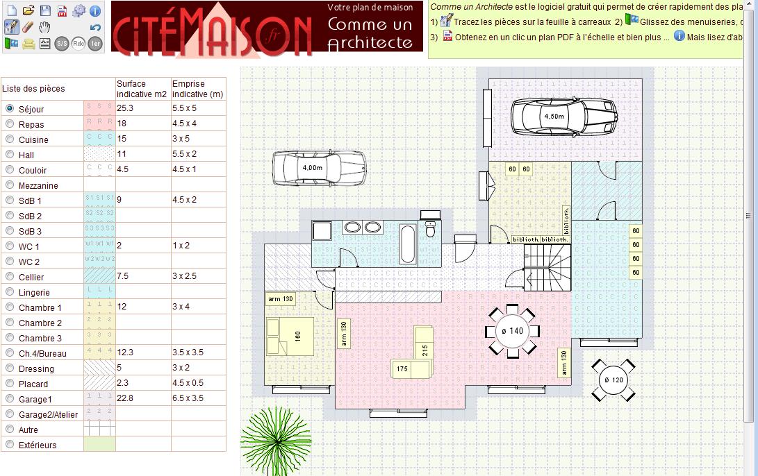 Cr er un plan de maison en ligne l 39 habis for Faire un plan 3d gratuit